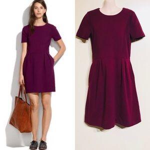 Madewell Gallerist Burgandy Dress Sz 2